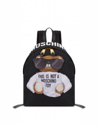 Moschino Nylon Backpack Micro Teddy Bear