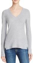 Aqua Cashmere Fitted V-Neck Sweater