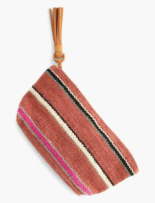 Lucky Brand Striped Fabric Pouch
