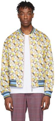 Rochambeau Reversible Yellow Brad Pitt Bomber Jacket