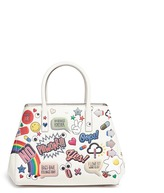 Anya Hindmarch 'All Over Stickers Small Featherweight Ebury' leather tote