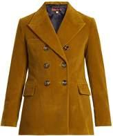ALEXACHUNG Peak-lapel cotton-corduroy blazer