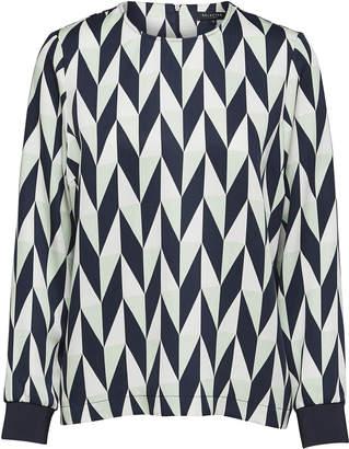 Selected Pattern Mixed Melange Frikki Long Sleeved Top - 42 - Blue