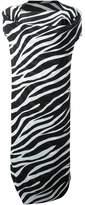 Junya Watanabe draped zebra print dress