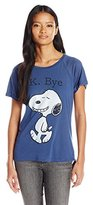Peanuts Junior's Snoopy K Bye High Low Drapey Graphic Tee