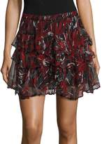 IRO Women's Dicie Tiered Ruffle Skirt