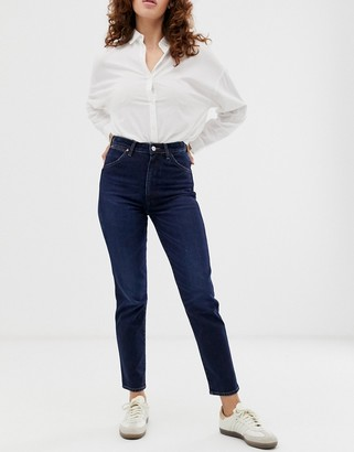 Wrangler indigood iconic high rise straight leg jean-Blue
