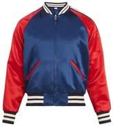 Gucci Reversible Striped-detail Satin Bomber Jacket