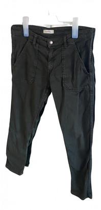BA&SH Khaki Cotton - elasthane Jeans