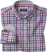 Johnston & Murphy Plaid Button-Down Collar Slub Shirt