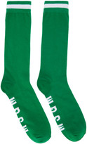 MSGM Green Logo Socks