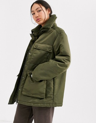 Asos padded short coat