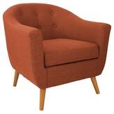 Lumisource Rockwell Accent Chair Dark Orange