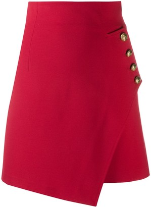 Pinko Asymmetric Fitted Skirt