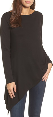 Halogen Boatneck Asymmetrical Tunic