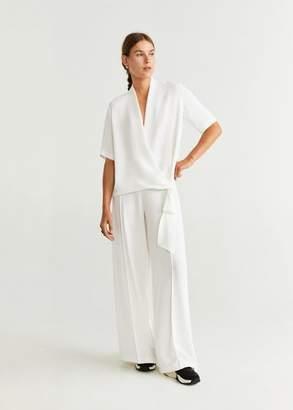 MANGO Decorative bow blouse off white - XS - Women