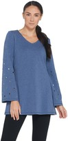Susan Graver Weekend French Terry Tunic with Grommets