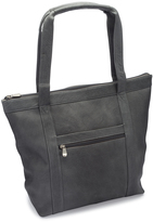 Le Donne Gray Phalicia Leather Tote