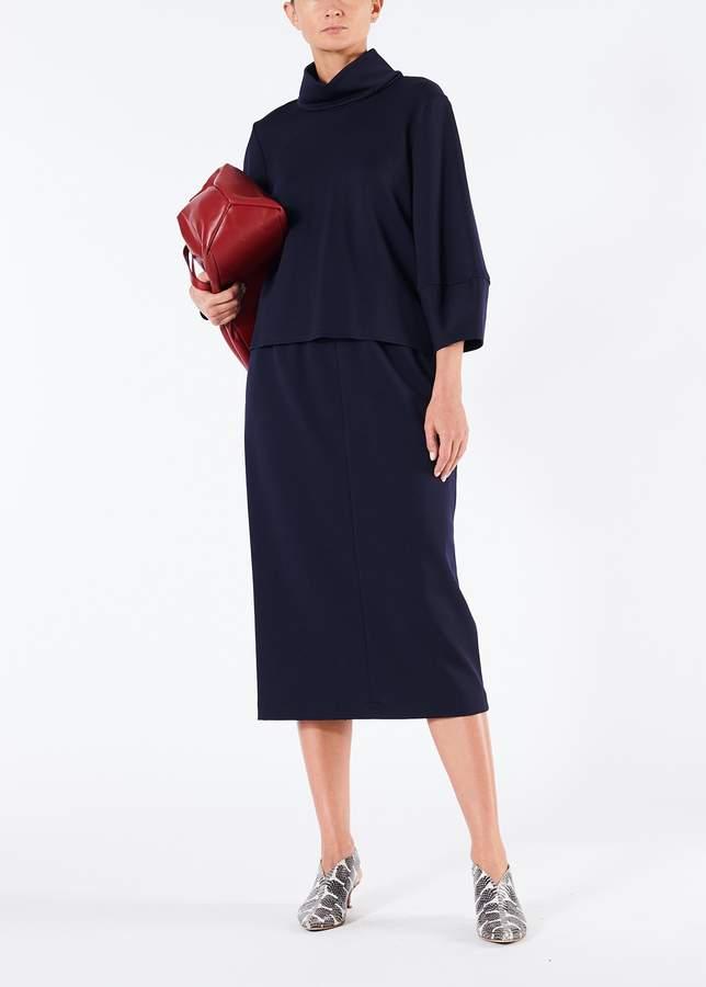 95a44bef52 Navy Knit Skirt - ShopStyle