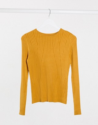Only Natalia long sleeve knit top in red