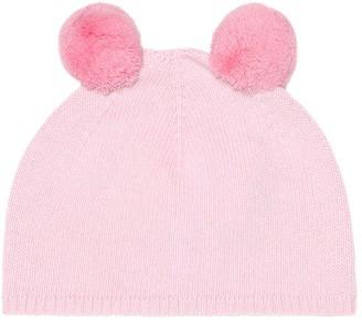 Il Gufo Baby pom pom-trimmed wool hat