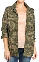Old Navy Women's Twill Military-Style Shirt-Jackets