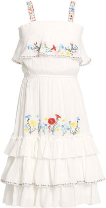 Hannah Banana Girl's Tiered Floral Embroidery Dress, Size 7-14