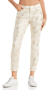 7 For All Mankind JEN7 by Ankle Skinny Jeans in Metallic Floral