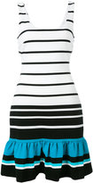 MICHAEL Michael Kors striped frill hem dress - women - Polyester/Spandex/Elastane/Viscose - 2
