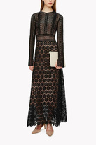 Theory Mixed Lace Maxi Dress