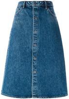 Helmut Lang jupe mi-longue en jean
