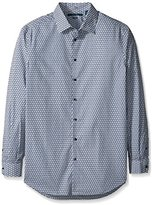 Perry Ellis Men's Big and Tall Non Iron Exclusive Diagonal Print Shirt