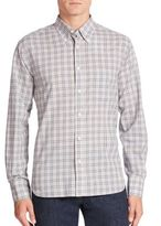 Billy Reid Long Sleeve Checked Button-Down Shirt