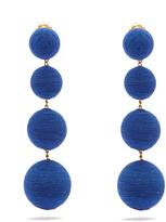 REBECCA DE RAVENEL Corded-silk drop clip-on earrings
