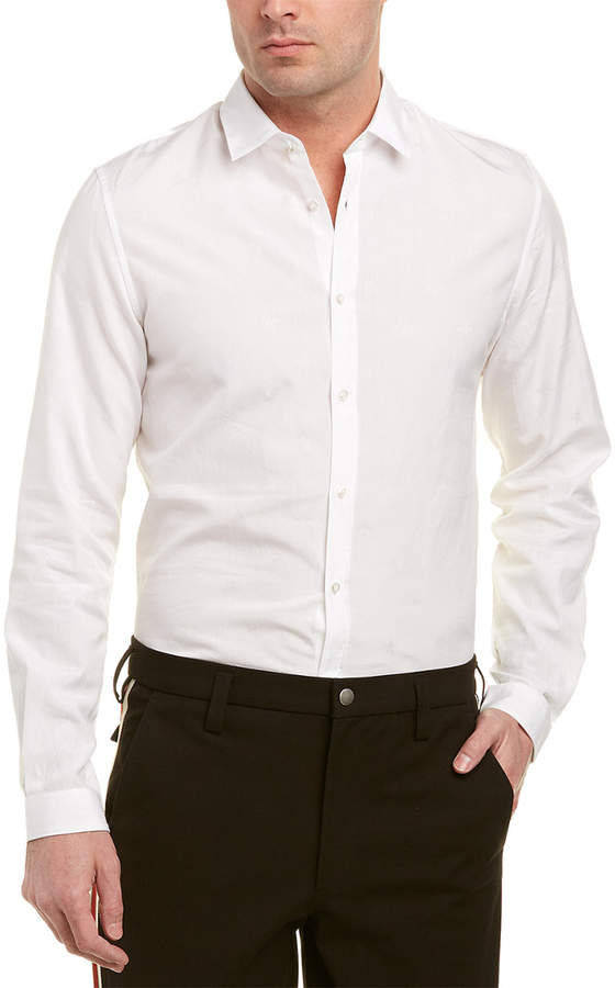 Gucci Bee Jacquard Oxford Duke Woven Shirt