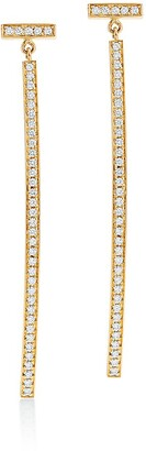 Tiffany & Co. T diamond bar earrings in 18k gold