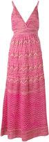 M Missoni zigzag detail midi dress - women - Polyamide/Viscose/Metallized Polyester/Polyester - 38