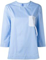 Maison Margiela contrast pocket pinstripe top