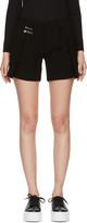 Versus Black Safety Pin Shorts