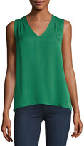 Diane von Furstenberg Sky Silk High-Low Tank, Green