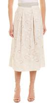 Rebecca Taylor Garden Eyelet Linen Maxi Skirt