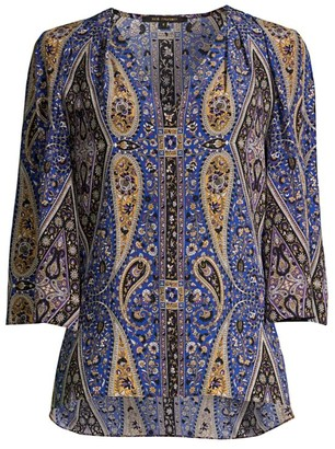 Kobi Halperin Jeneva Printed Silk Blouse