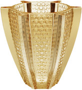 Lalique Rayons Vase - Gold Luster