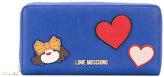 Love Moschino patch detail zip wallet - women - Polyurethane - One Size