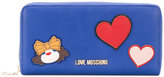 Love Moschino patch detail zip wallet