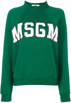 MSGM raglan logo sweatshirt - women - Cotton - S