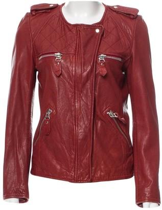 Etoile Isabel Marant Burgundy Leather Leather jackets
