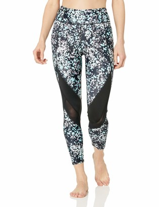 Andrew Marc Women's 7/8th Length Printed Legging with Mesh