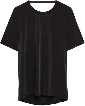 Maje Tresse Cutout Washed Satin T-shirt