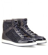 Jimmy Choo Tokyo leather high-top sneakers with studs